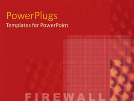 Theme with word Firewall against background of red textures