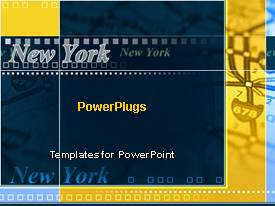 Amazing presentation theme consisting of the word new york  in various fonts