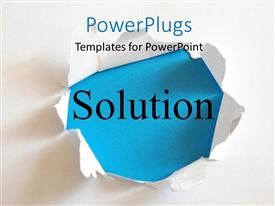 Downloadable powerpoint templates slides 3d photos more powerplugs powerpoint template with the word solution with a white background toneelgroepblik Gallery