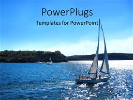 5000 yacht powerpoint templates w yacht themed backgrounds colorful presentation theme having yatcht in blue sea with watter ripples and trees in distance toneelgroepblik Choice Image
