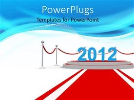 Slide set enhanced with the year 2012 with bluish background and place for text