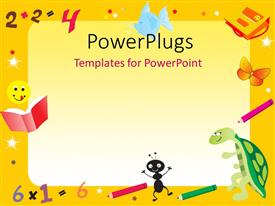Royalty free PowerPlugs: PowerPoint template - Yellow_abstract_frame_co_61