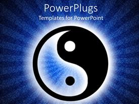 3000 yin yang powerpoint templates w yin yang themed backgrounds presentation theme enhanced with yin and yang symbol in illuminated dark blue background toneelgroepblik Image collections