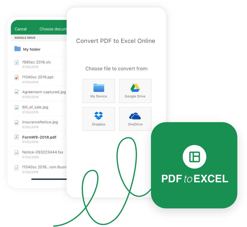 convert pdf excel online free no email