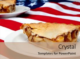 Powerpoint template apple pie sitting on american flag 1611 presentation design having 2 pcs of apple pie background and a coral colored foreground custom template design 10000 toneelgroepblik Choice Image