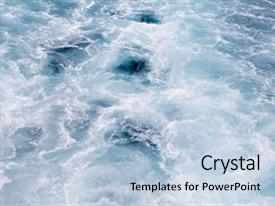 Slide deck enhanced with 2000 cat - blue water background foamy wave background and a light blue colored foreground.