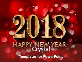 presentation design enhanced with party invitation 2018 happy new year background background and a tawny