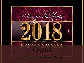 presentation having 2018 happy new year background background and a colored foreground