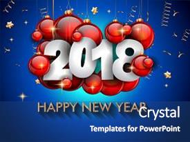 slide deck consisting of 2018 happy new year background background and a colored foreground