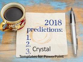 Theme featuring 2018 predictions list on a napkin with a cup of coffee background and a  colored foreground.
