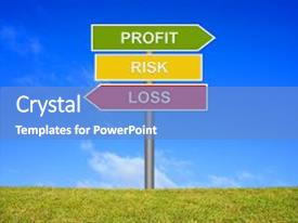 Beautiful theme featuring balance - 3 arrows shows profit loss backdrop and a teal colored foreground.