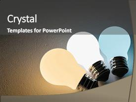 PPT layouts consisting of 3 light bulb or lamp background and a  colored foreground.