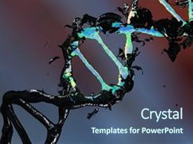 500 nano particle powerpoint templates w nano particle themed slide deck with nano particle 3d dna molecule consists background and a ocean colored foreground toneelgroepblik Image collections