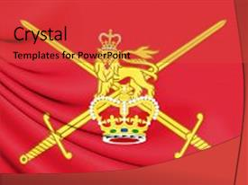British army powerpoint templates crystalgraphics presentation design consisting of 3d flag of british army background and a red colored foreground toneelgroepblik Choice Image