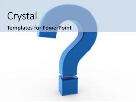PPT theme featuring 3d question mark symbol blue background and a  colored foreground.