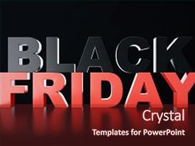 Audience pleasing presentation theme consisting of banner - 3d rendering black friday sale backdrop and a tawny brown colored foreground.