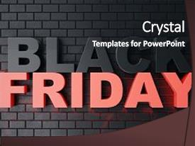 Colorful PPT layouts enhanced with banner - 3d rendering black friday sale backdrop and a dark gray colored foreground.