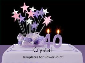 40th Birthday Powerpoint Templates W 40th Birthday Themed