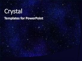 PPT layouts enhanced with starry night sky background and a navy blue colored foreground.