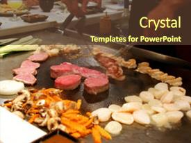 5000 japanese food powerpoint templates w japanese food themed audience pleasing ppt theme consisting of a tepanyaki style japanese backdrop and a tawny brown colored toneelgroepblik Images