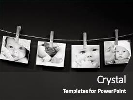 Amazing slide deck having a textured wall background backdrop and a dark gray colored foreground.