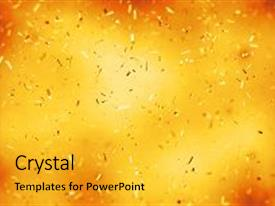 Cool new presentation theme with birthday - abstract background with many falling backdrop and a gold colored foreground.