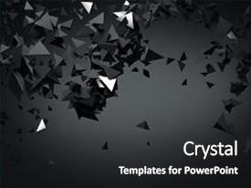 Presentation theme enhanced with abstract black polygonal background art creativity concept 3d rendering background and a  colored foreground.