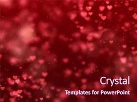 Amazing theme having abstract christmas gradient red and purple gradient background with bokeh glitter and red hearts shape flowing valentine day love relationship holiday event festive concept backdrop and a wine colored foreground.