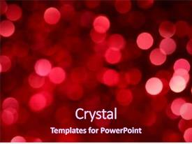 Beautiful presentation theme featuring abstract christmas lights as background backdrop and a crimson colored foreground