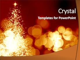 Cool new presentation with abstract christmas tree backdrop and a black colored foreground.