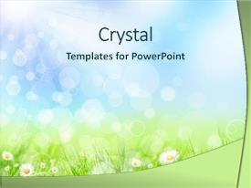 Colorful presentation theme enhanced with abstract spring background backdrop and a cool aqua colored foreground