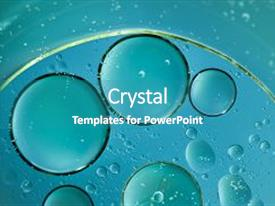 PPT theme consisting of abstract water bubbles light illumination background and a  colored foreground.