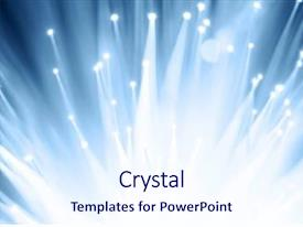 PPT layouts consisting of abstract white - fiber optics background with lots background and a sky blue colored foreground