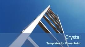 Slide deck with achievement - metal ladder background and a ocean colored foreground