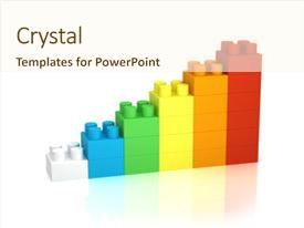 Cool new presentation theme with achievement chart from building blocks backdrop and a cream colored foreground.
