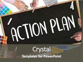 Beautiful PPT layouts featuring action plan action plan strategy backdrop and a dark gray colored foreground.