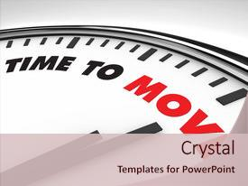 Cool new slides with action plan - white clock with words time backdrop and a lemonade colored foreground.