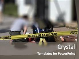 Presentation theme enhanced with active shooter scenario and medical background and a gray colored foreground.