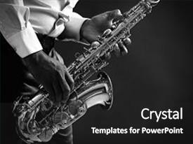 Jazz powerpoint templates w jazz themed backgrounds audience pleasing ppt theme consisting of saxophone african american musician playing backdrop toneelgroepblik Choice Image