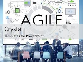 PPT theme enhanced with agile nimble quick innovation reassessment background and a light gray colored foreground.
