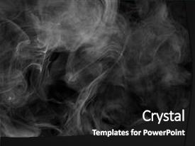 Cool new presentation theme with alternative non-nicotine smoking backdrop and a black colored foreground.