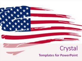 Slides having american flag background illustration please background and a pink colored foreground.