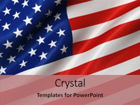 Cool New Slide Deck With American Flag Background Backdrop And A Coral  Colored Foreground.