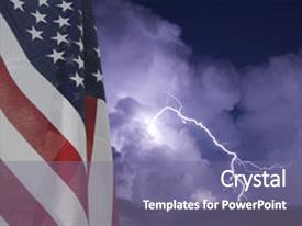 Presentation consisting of wind energy - american flag displayed background and a gray colored foreground.