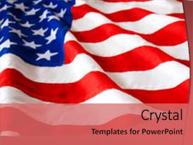 PPT layouts enhanced with american flag background and a coral colored foreground.