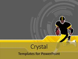 5000 american football powerpoint templates w american football ppt theme having american football runing man wallpaper background and a gold colored foreground toneelgroepblik Image collections