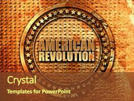 1000 american revolution powerpoint templates w american ppt layouts with american revolution 3d rendering metal background and a tawny brown colored foreground toneelgroepblik Image collections