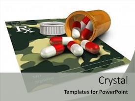 Army medicine powerpoint templates crystalgraphics theme featuring an icon for pharmaceutical background and a colored foreground toneelgroepblik Choice Image
