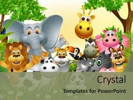 1000 cartoon jungle safari powerpoint templates w cartoon jungle
