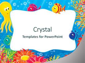 top fish coral reef cartoon borders powerpoint templates